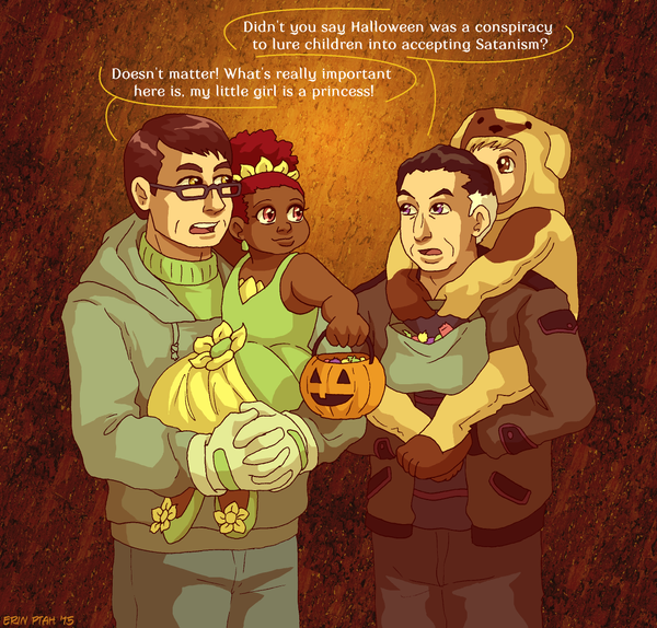 Good Dad AU: Trick or Treat by ErinPtah