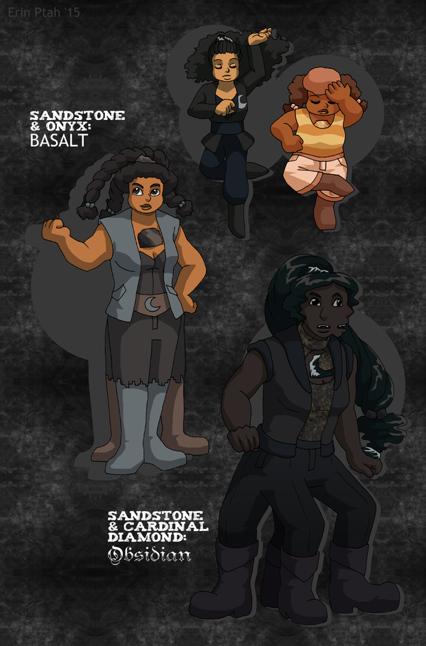Dana-Tamika Fusions - Basalt and Obsidian by ErinPtah