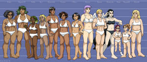 Leif and Thorn - Character Height Chart I