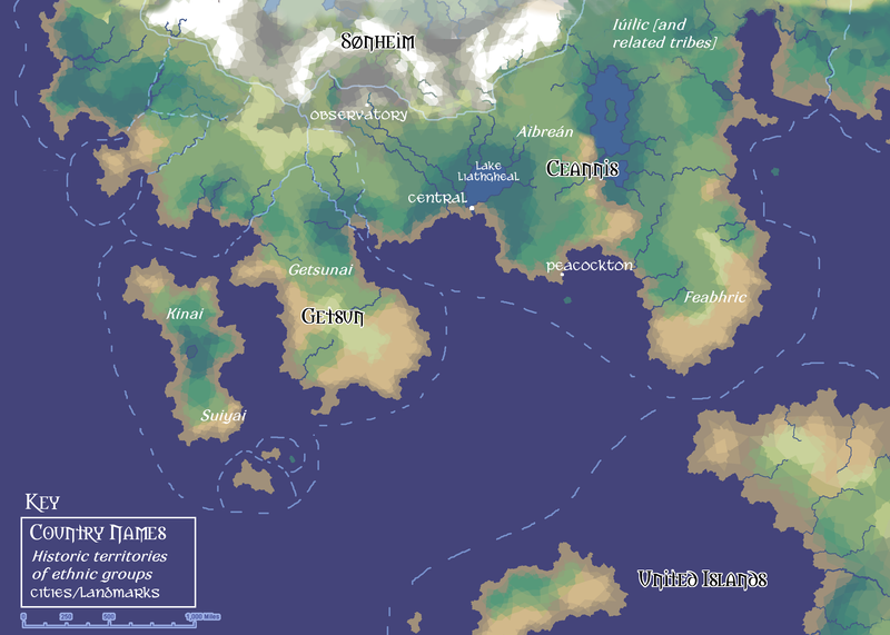 Ceannis: The Small Map by ErinPtah