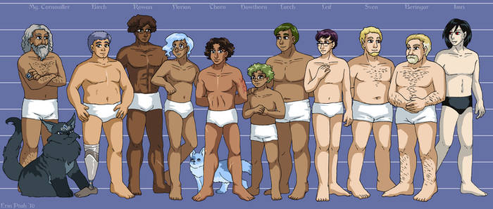 Leif and Thorn - Character Height Chart II
