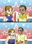 Obama-kun and Hillary-chan 2016