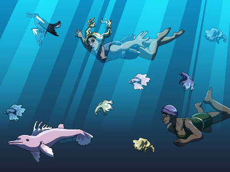 Wallpaper - Swimming Beauties