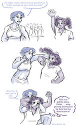 Violet/Clover - This is a public sparring arena by ErinPtah