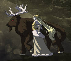 The Queen and her Steed by ErinPtah