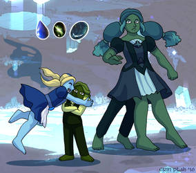 Holly-Ivy Fusion - Vivianite by ErinPtah