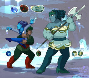 Thorn-Delphinium fusion - Imperial Jasper by ErinPtah