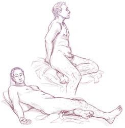 Figure drawings 4-15-17 -NSFW- by ErinPtah
