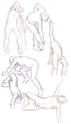 Figure drawings 5-28-17 -NSFW- by ErinPtah