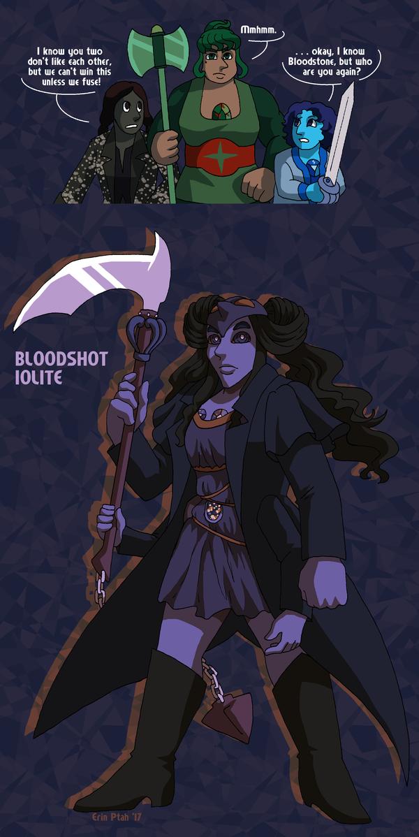 WiB-Del-Thorn Fusion - Bloodshot Iolite by ErinPtah