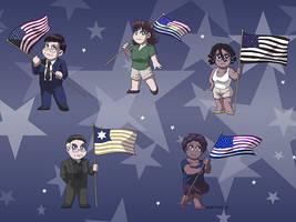 Wallpaper - True Patriotism by ErinPtah