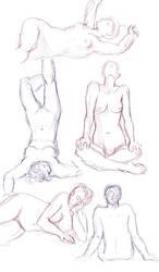 Figure drawings 7-15-17 -NSFW- by ErinPtah
