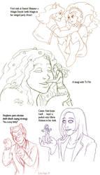 Comfort sketchpile by ErinPtah