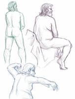 Figure drawings 9-29-17 by ErinPtah