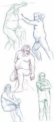 Figure drawings 10-21-17 by ErinPtah