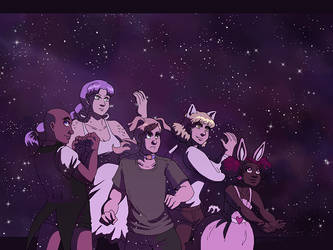 Wallpaper - Starlit Fights by ErinPtah