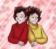 Matching Sweaters by ErinPtah