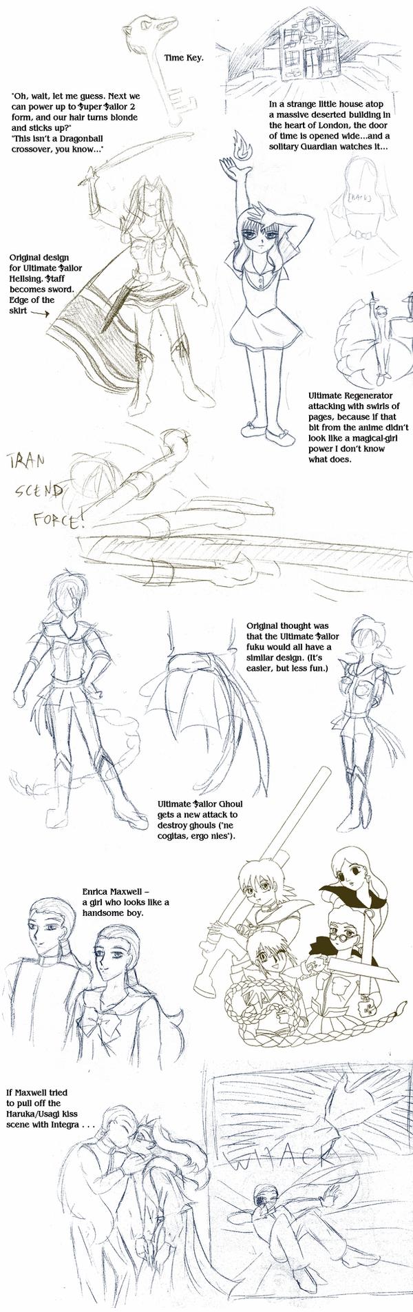 Sailor Hellsing sketchpile 3 by ErinPtah