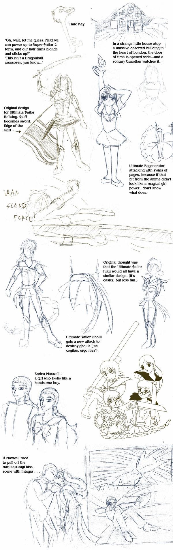 Sailor Hellsing sketchpile 3