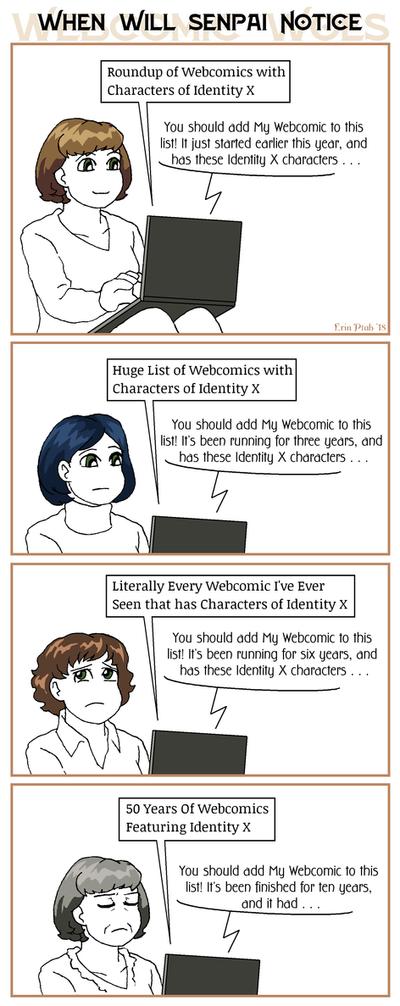 Webcomic Woes 3 - Getting on the radar by ErinPtah