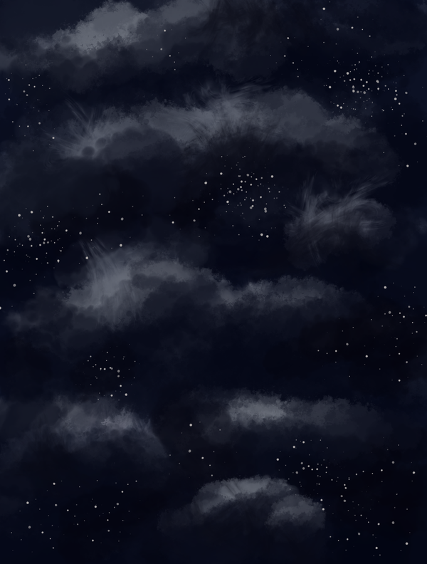 Stars and clouds -free- by ErinPtah