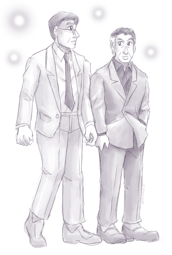 Gents in suits by ErinPtah