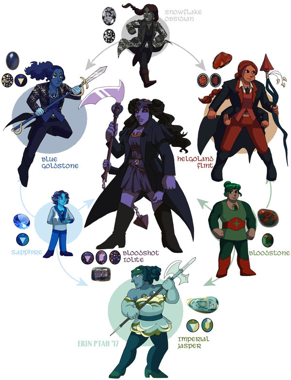 Sapphire-Bloodstone-Obsidian Hexafusion