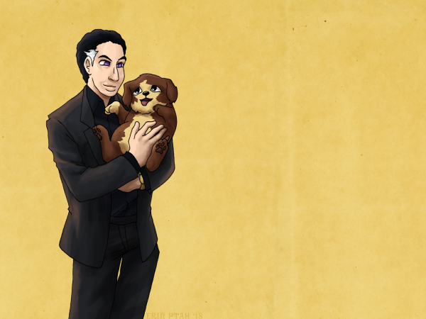 Wallpaper - Cohen and Puppy