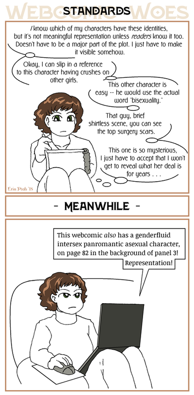 Webcomic Woes 9 - Visibility by ErinPtah