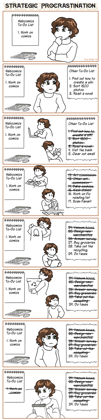Webcomic Woes 13 - Long to-do lists by ErinPtah