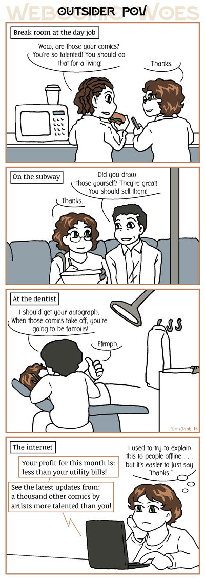 Webcomic Woes 15 - Folks outside fandom don't know by ErinPtah