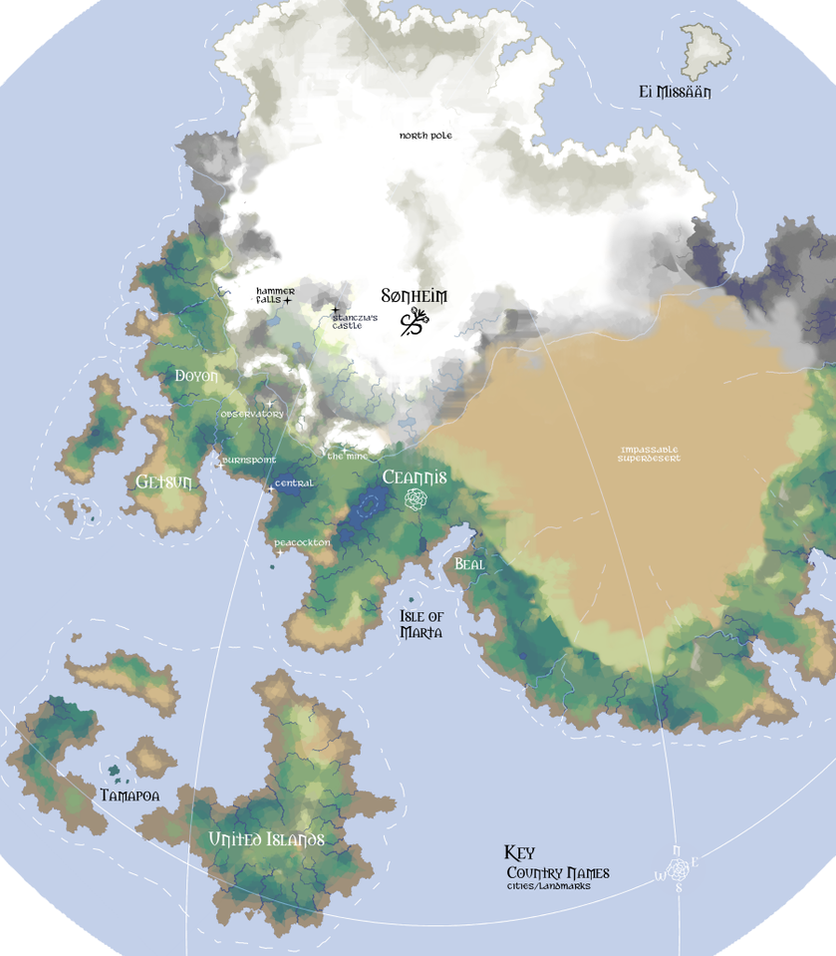 Leif and Thorn - World Map by ErinPtah