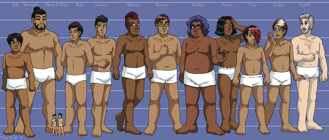 Leif and Thorn - Character Height Chart IV by ErinPtah