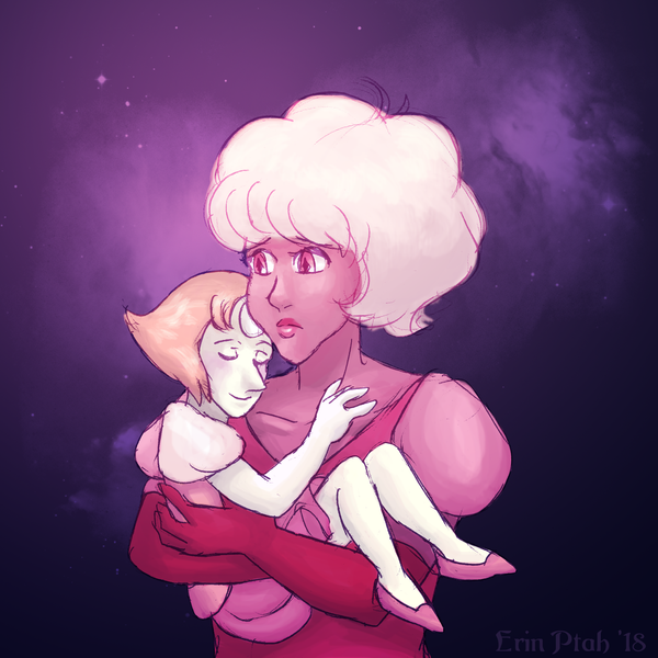 Problematic ships project: Pearl/Pink Diamond. Arguably double-dipping, but whatever, it's my project. I love Pink as a depiction of how good intentions don't automatically solve the problems cause...