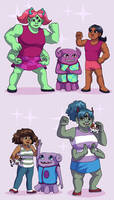Boov-Human Fusions by ErinPtah