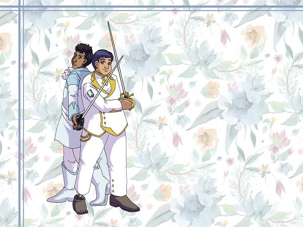 Wallpaper - Rapier Hearts by ErinPtah
