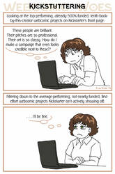 Webcomic Woes 21 - Performance kicxiety by ErinPtah