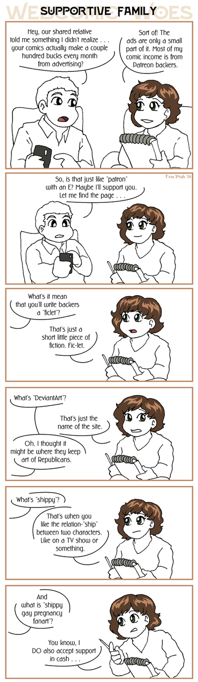 Webcomic Woes 22 - Family matters by ErinPtah