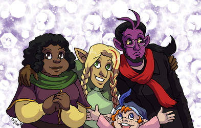 Rosy Bards by ErinPtah