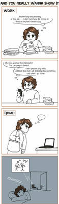 Webcomic Woes 23 - Shoulda drawn it ahead of time by ErinPtah