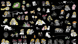 BICP Chibisplosion Wallpaper #2 by ErinPtah