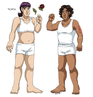 #OCdressup - Leif and Thorn by ErinPtah