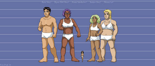 Leif and Thorn - Character Height Chart V by ErinPtah