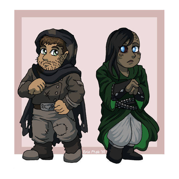 Chibi Max and Herald by ErinPtah