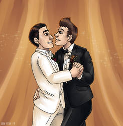 The Blaine-Sebastian Wedding by ErinPtah