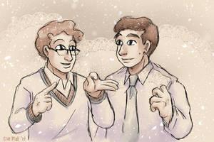 Necktie and Sweaterboy