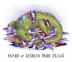 Hoard of Lesbian Pride Flags