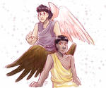 Angel Leif and Demon Kale by ErinPtah