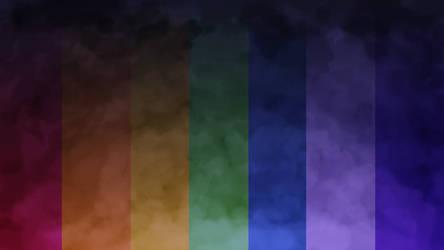 Rainbow Night background -free-