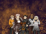 October wallpaper - Spooky Fashion by ErinPtah